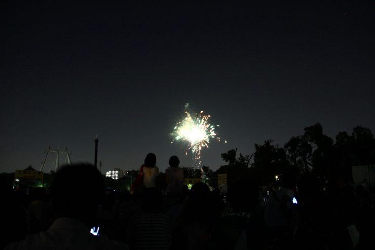 練馬区花火フェスタ 打ち上げ開始