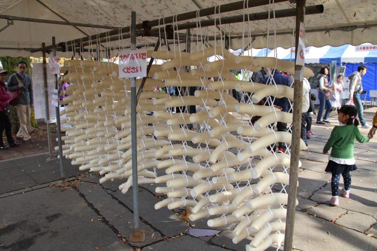農業祭 大根のたち編み