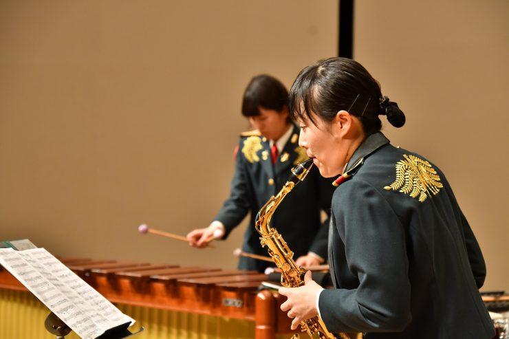 室内演奏会 サクソフォンと打楽器の二重奏