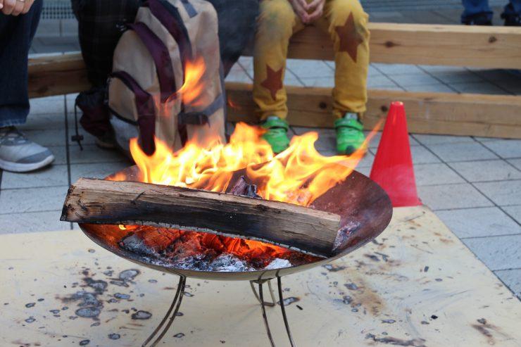 ゆりの木(焚き火)